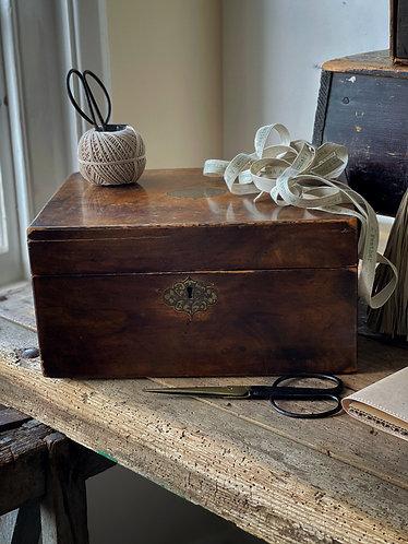 Burr Walnut Inlaid Seed Box