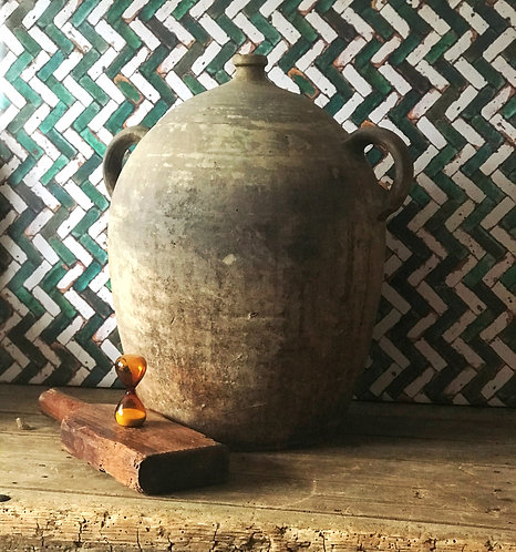 Large French Oil Jar