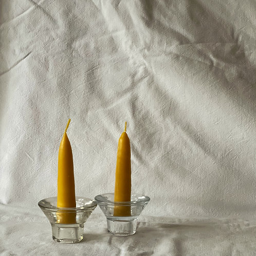 Mini Taper Beeswax Candles - Pack of 2