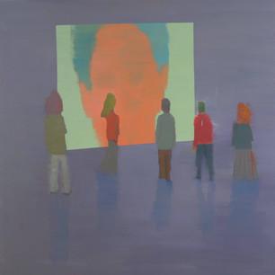Alon Kedem, Talk, 2013, Oil on canvas, 55 x 55 inches,140 x 140 cm