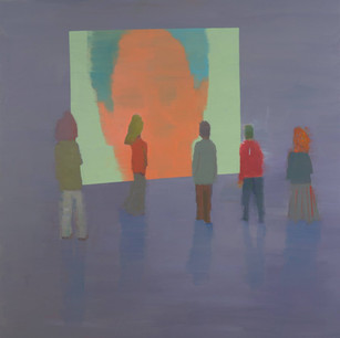 Alon Kedem, Talk, 2013, Oil on canvas, 55 x 55 inches,140 x 140 cm