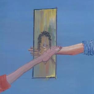 Alon Kedem, Touch Me, 2015, oil on canvas, 31.5 x 27.6 inches, 80 x 70 cm.