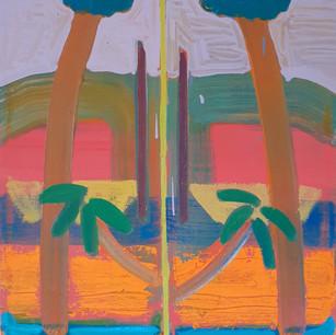 Alon Kedem, Memory of Bagdad, 2020, oil on canvas, 53x52 cm