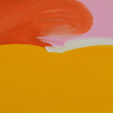 Iris Cintra, Orange Spirit, 2019, Oil on canvas,  11.8 x 13.7 inches, 30 x 35 cm.