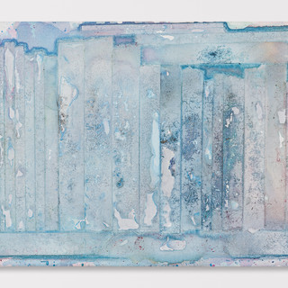 Rotem Reshef, Ghost Library #34, 2018, diluted acrylic on canvas, 16 x 20 inches