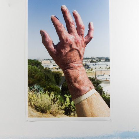 Barak Zemer, My Hand, Chinatown, 2013, 60 x 47 inches, Inkjet on Archival paper
