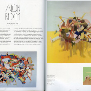 "Alon Kedem in - Kurt Beers, ""100 Painters of Tomorrow"", 2014, Thames and Hudson, London, UK."