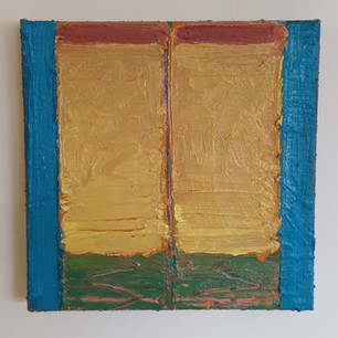 Alon Kedem, Window, 2020, Oil on canvas, 9.7 x 9.7 inches, 24x24cm