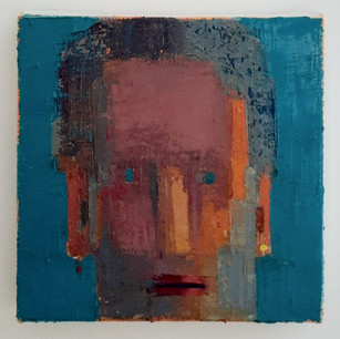 Alon Kedem, He, 2020, oil on canvas, 9.7 x 9.7 inches, 24x24cm