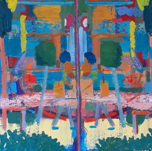 Alon Kedem, We will meet again, 2020, oil on canvas, 53x52 cm