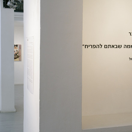 Hilla Spitzer, We Are The Wilderness That You Came To Bloom,  Solo Exhibition Minshar For Art College And Gallery, Tel Aviv, Israel