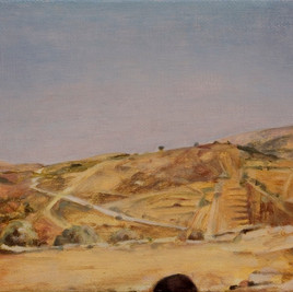 Anat Aviv, Lebanese landscape with a soldier's shadow, 2004, oil on canvas