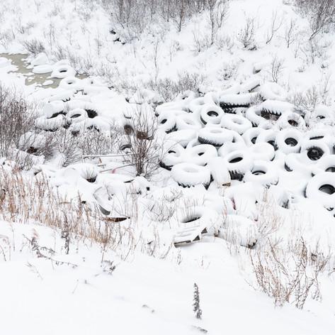 Stanislav Pospelov, Tires in Snow, 2018