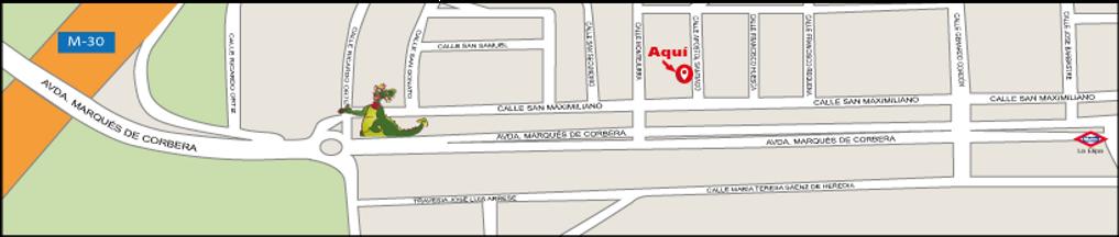 Plano de ubicacion de A Punto Cycles en la calle Apóstol Santiago número 3
