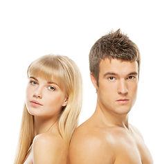 Hombre y Mujer depilados
