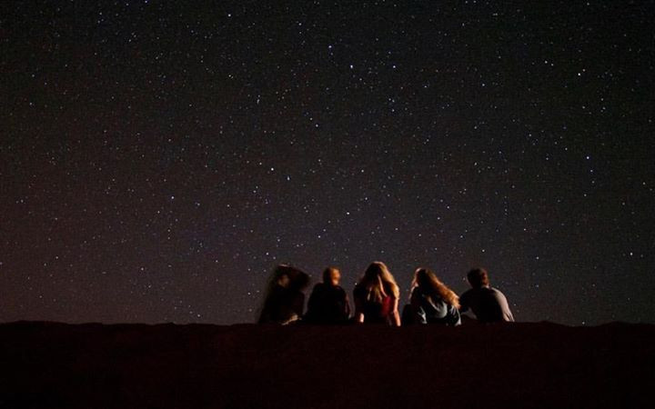 Watching the stars in the middle of the Sahara Desert