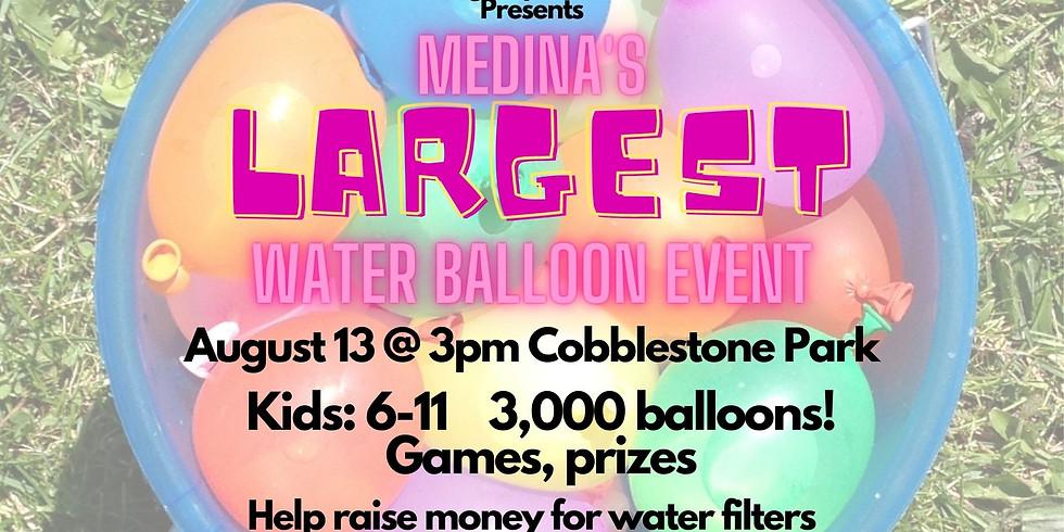 Medina's Largest Waterballoon event
