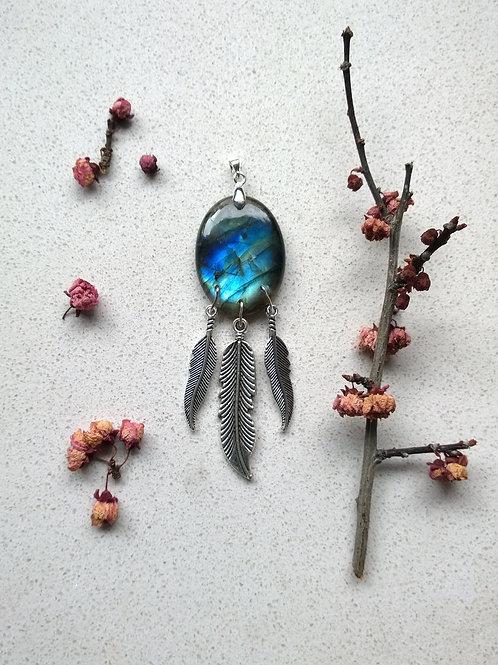 Labradorite Charm Based Necklace V