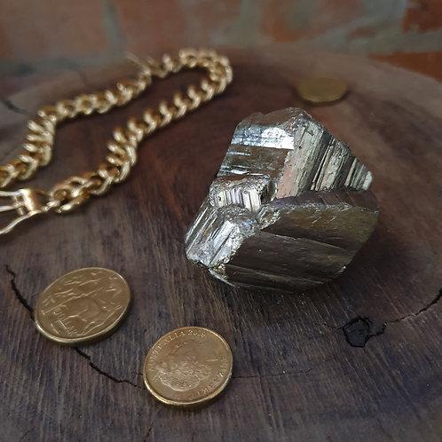 Natural Pyrite Cube III ~ Irregular Twin Formation