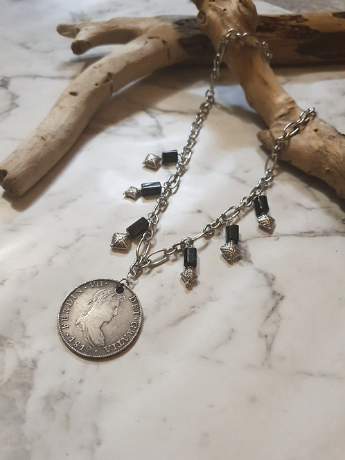 """8-Bit Pirate Coin Necklace ◇ 8 Reales """"Piece-of-8"""""""