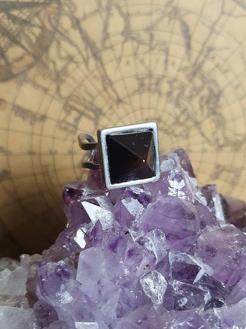 Black Onyx Pyramid Rings