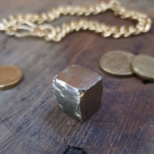 Natural Pyrite Cube II ~ Lovely Lines