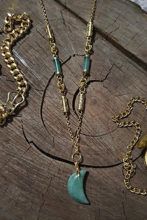 Aventurine x Green Quartz Statement Necklace I