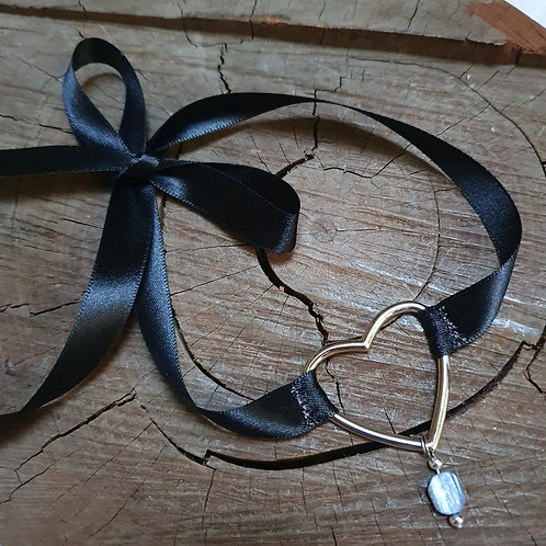 Kyanite Ribbon Choker I
