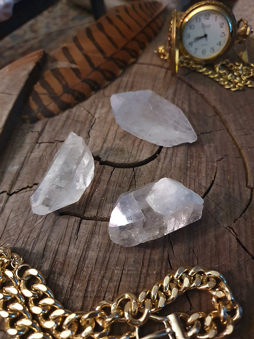 Double-Terminated Clear Quartz x 3
