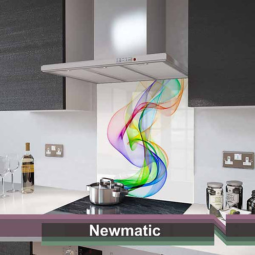 Rainbow Wave Glass Splashback 60cm