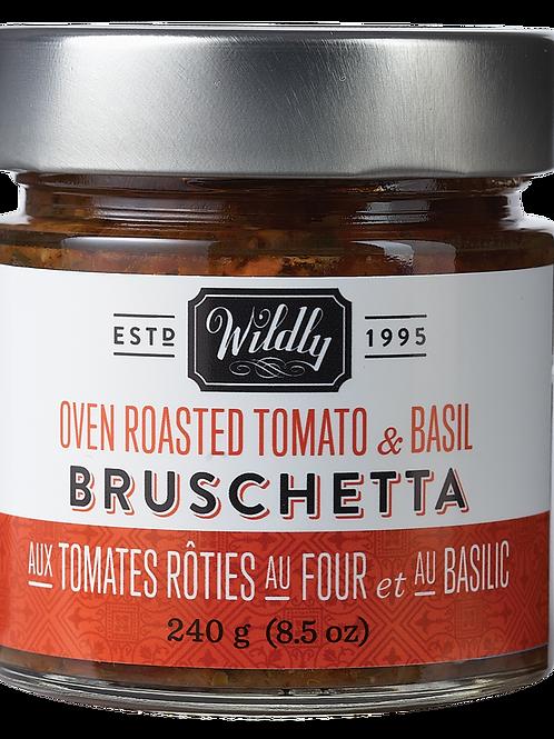 Oven Roasted Tomato & Basil Bruschetta