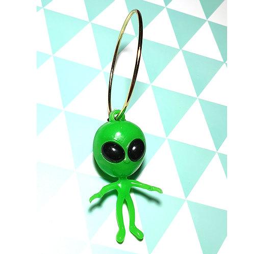 Boucle d'oreille Solo Alien