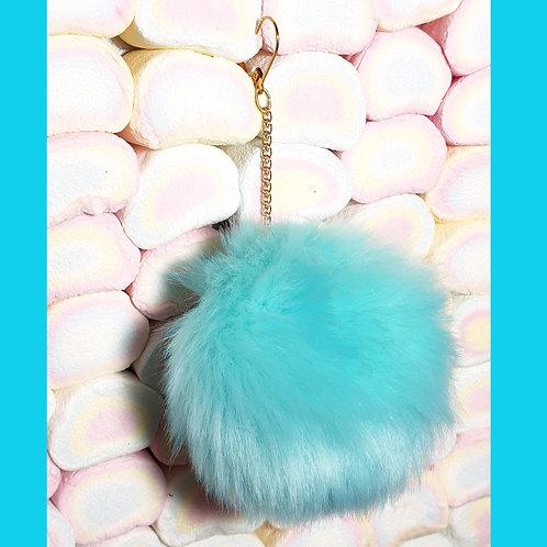 Boucles d'oreille Pompon Bleu