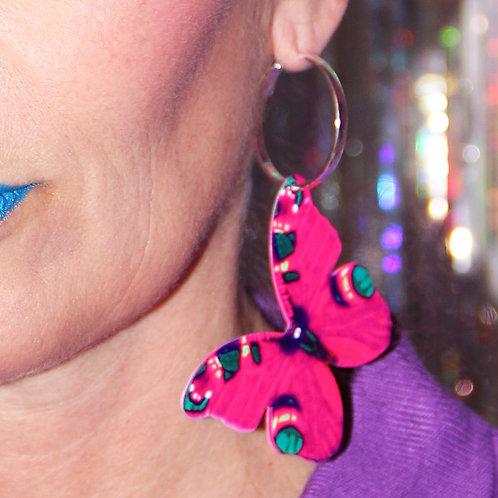 Boucle d'oreille Solo Papillon