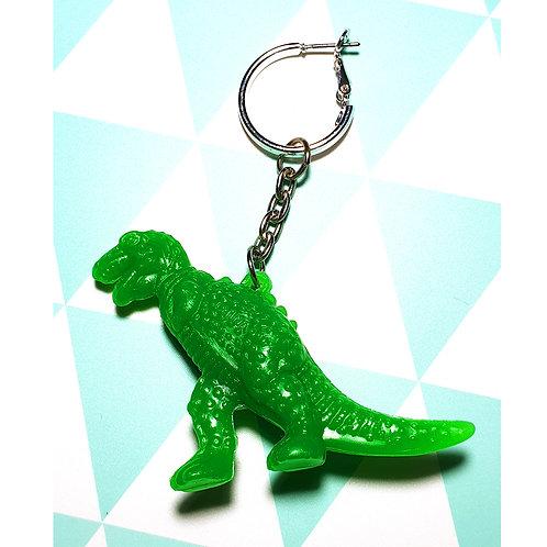 Boucle d'oreille Solo Dino Vert