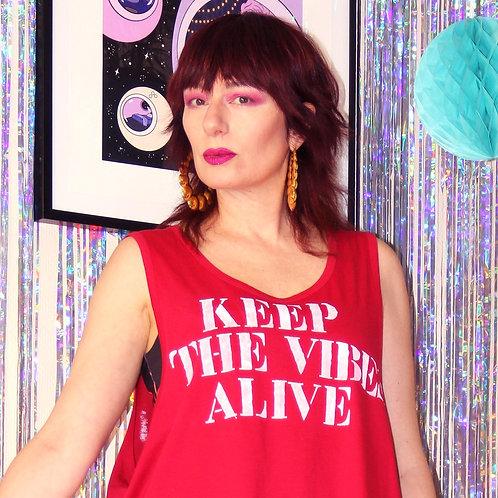 "Tee-shirt ""Keep the vibes alive"""