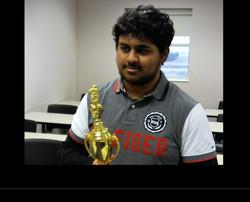 Arshaq Saleem is Iowa Denker Champ