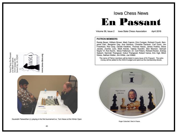 En Passant, April 2016
