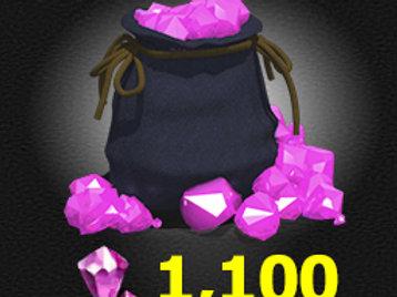 1,100 Gems