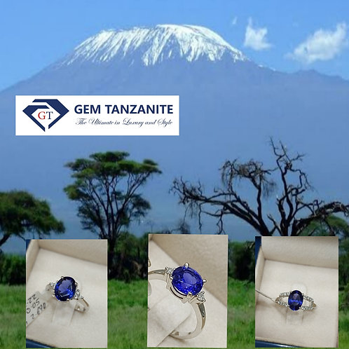 Rings in whitegold with tanzanite and diamonds