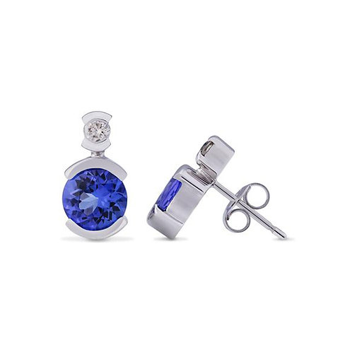 Circular Tanzanite Earrings