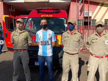Boca Aberta Jr entrega Ambulância do SIATI em Ibiporã que atenderá 8 municípios da região.
