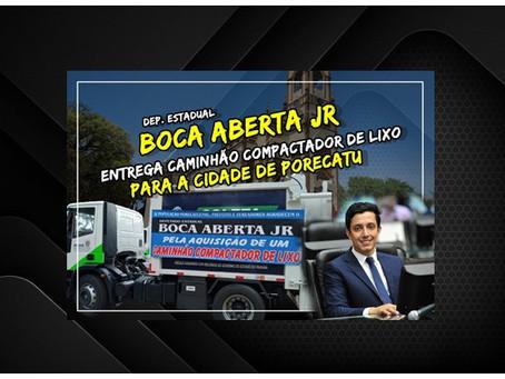 Boca Aberta Jr entrega Caminhão compactador de Lixo em Porecatu.