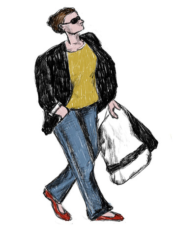A Lady On a Shopping Spree