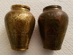 Paire de vases en cuivre doré