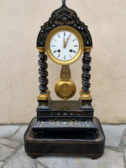 Pendule porticle Napoléon III