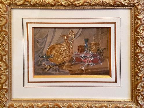 Aquarelle début XXe signée G. Falk