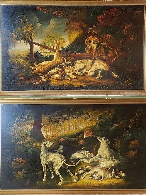 2 grands tableaux fin XIXe début XXe