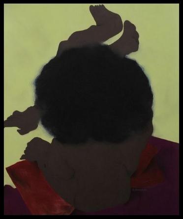 Femme noire assise