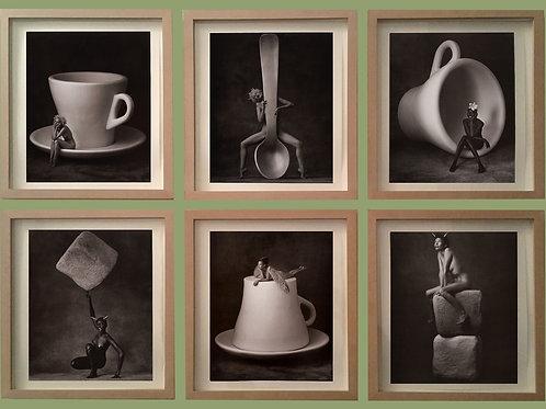 Série de 6 photographies LAVAZZA